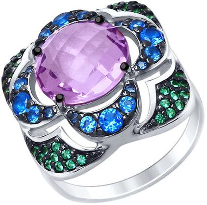 Кольца SOKOLOV 92011449_s кольцо с 81 фианитами из серебра 925 пробы