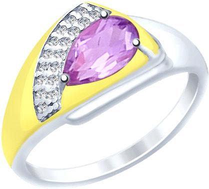 Кольца SOKOLOV 92011452_s женские кольца jv женское серебряное кольцо с синт аметистом в позолоте 30 014 510 030 gams yg 18