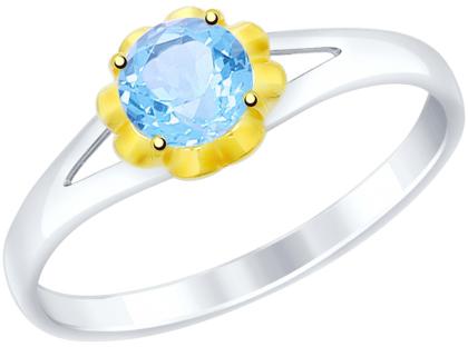 Кольца SOKOLOV 92011508_s moonka studio серебряное кольцо с топазом