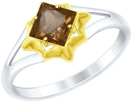 Кольца SOKOLOV 92011515_s кольцо серебро с раухтопазом родник скнрт 8460