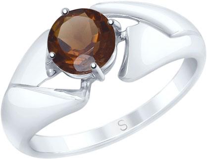 Кольца SOKOLOV 92011604_s кольцо серебро с раухтопазом родник скнрт 8460