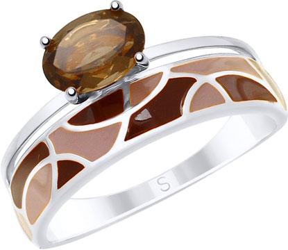 Кольца SOKOLOV 92011621_s кольцо серебро с раухтопазом родник скнрт 8460