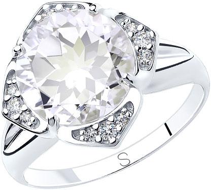 Кольца SOKOLOV 92011817_s женские кольца кюп женское серебряное кольцо с горным хрусталем alm3537001409 19