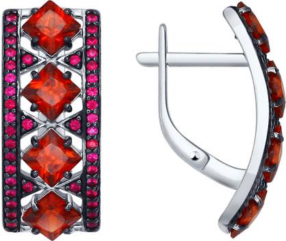 Серьги SOKOLOV 92021269_s u7 роскошные хрустальные бусины браслеты для женщин ювелирные изделия 2016 новые модный черный красный камень хамса рука сглаза браслет page 8