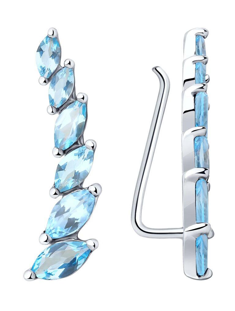Серьги SOKOLOV 92021348_s серьги с подвесками jv серебряные серьги с топазами и куб циркониями ppe2390 bt 001 wg