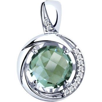 Кулоны, подвески, медальоны SOKOLOV 92030566_s женские кулоны jv серебряный кулон с кварцем и куб циркониями в позолоте eo017819a x qz 001 pink