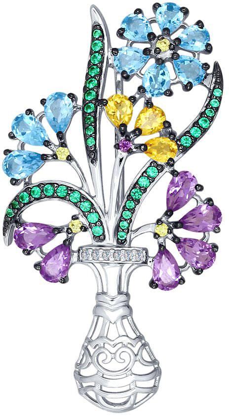 Броши SOKOLOV 92040060_s серебряная брошь в виде бабочки sokolov