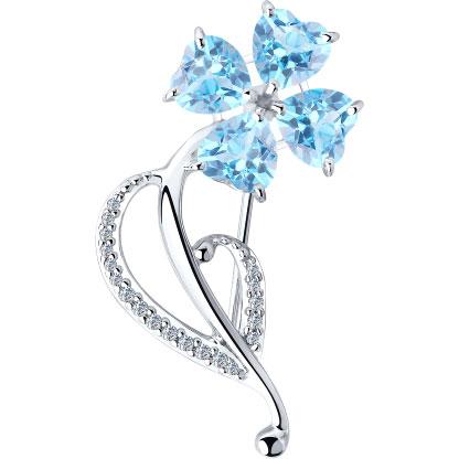 Броши SOKOLOV 92040082_s серебряная брошь в виде бабочки sokolov