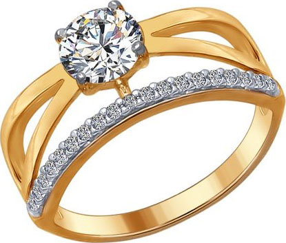 Кольца SOKOLOV 93010670_s_17-5 золотые кольца высокой пробы