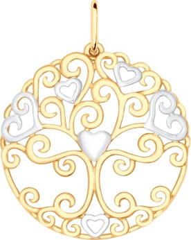 Кулоны, подвески, медальоны SOKOLOV 93030297_s кулоны подвески медальоны sokolov 035318 s