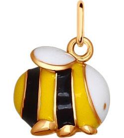 Кулоны, подвески, медальоны SOKOLOV 93030301_s arteast подвеска пчелка