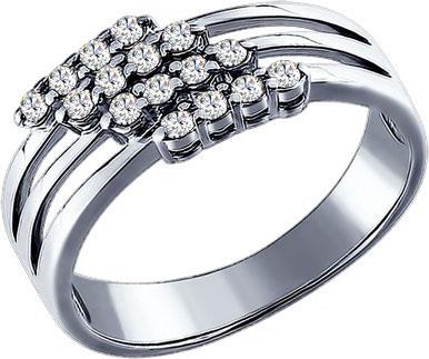 Кольца SOKOLOV 94010018_s кольцо с 81 фианитами из серебра 925 пробы