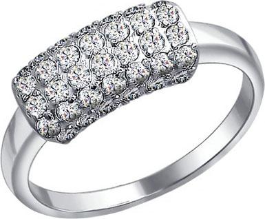 Кольца SOKOLOV 94010057_s кольцо с 81 фианитами из серебра 925 пробы