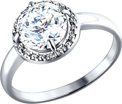 Кольца SOKOLOV 94010497_s кольцо с 81 фианитами из серебра 925 пробы
