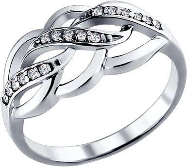 Кольца SOKOLOV 94010717_s кольцо с 81 фианитами из серебра 925 пробы