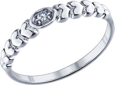 Серебряное наборное кольцо SOKOLOV 94011263_s с фианитом