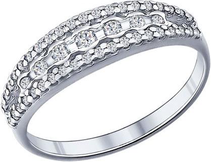 Кольца SOKOLOV 94011684_s кольцо с 81 фианитами из серебра 925 пробы