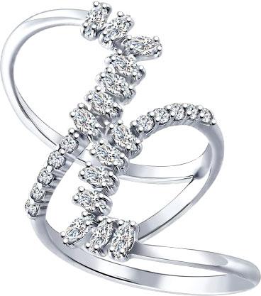 Кольца SOKOLOV 94011996_s кольцо с 81 фианитами из серебра 925 пробы