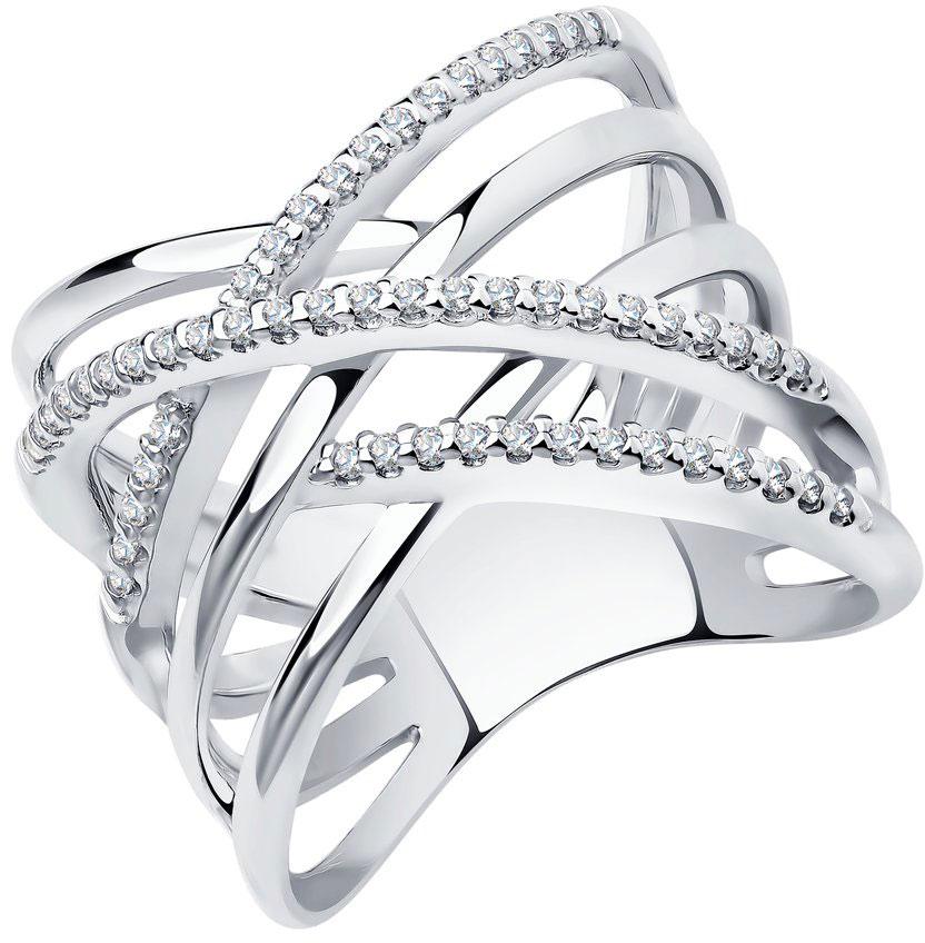 Кольца SOKOLOV 94012042_s кольцо с 81 фианитами из серебра 925 пробы