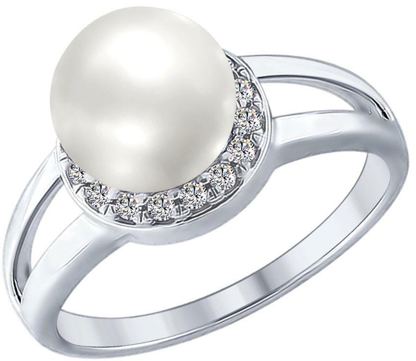 Кольца SOKOLOV 94012353_s жен стразы комплект ювелирных изделий набор украшений браслет цельное кольцо серьги гвоздики искусственный жемчуг белый