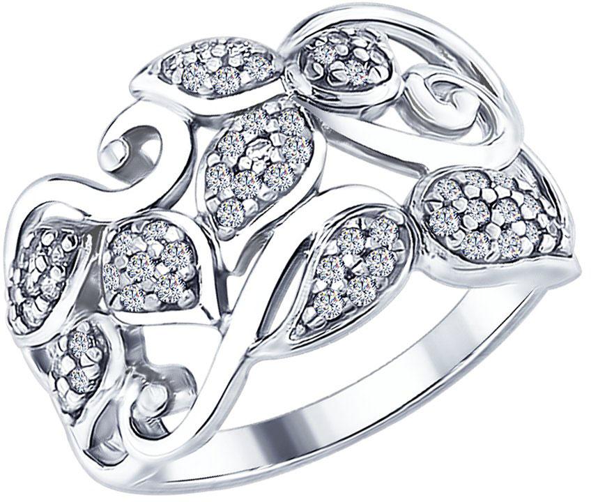 Кольца SOKOLOV 94012590_s кольцо с 81 фианитами из серебра 925 пробы