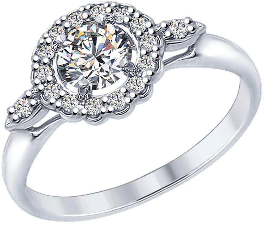 Кольца SOKOLOV 94012595_s женские кольца jv женское серебряное кольцо с куб циркониями f 642r 001 wg 17 5