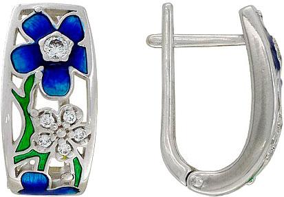 Серьги SOKOLOV 94020743_s серьги серебро с цитрином и фианитами присцилла