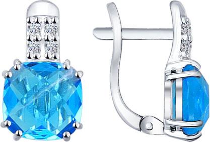 Серьги SOKOLOV 94021899_s серьги с подвесками jv серебряные серьги с ювелирным стеклом и куб циркониями dm0804e us 001 wg