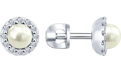 Серьги SOKOLOV 94021962_s серьги серебро с цитрином и фианитами присцилла