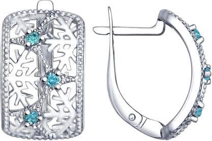 Серьги SOKOLOV 94022541_s серьги серебро с цитрином и фианитами присцилла