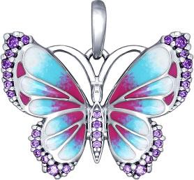 Кулоны, подвески, медальоны SOKOLOV 94031847_s женские кулоны jv серебряный кулон с синт рубинами и эмалью pwp 0084 rus wg