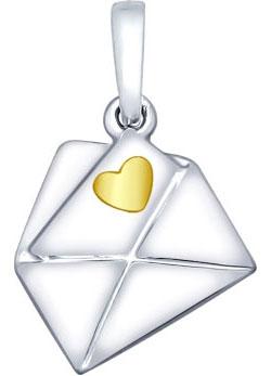 Кулоны, подвески, медальоны SOKOLOV 94031928_s жен мотаться уникальный дизайн в виде подвески кулон серебряный одинарная цепочка перо серьги назначение повседневные