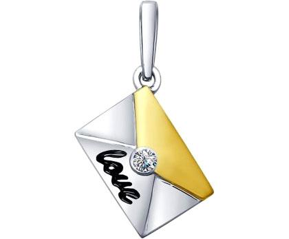 Кулоны, подвески, медальоны SOKOLOV 94031948_s жен мотаться уникальный дизайн в виде подвески кулон серебряный одинарная цепочка перо серьги назначение повседневные