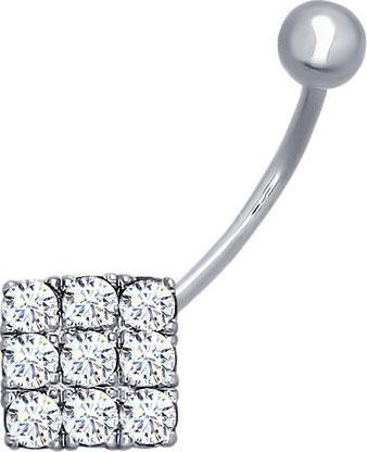 Серьги SOKOLOV 94060013_s серьги серебро с цитрином и фианитами присцилла