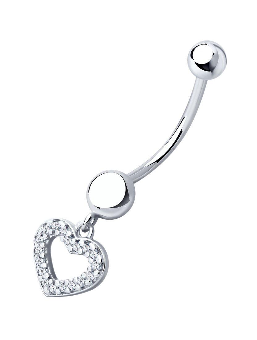 Серьги SOKOLOV 94060083_s женщин сексуальное тело мотаться пупка кольца пирсинг пупка кольца обратного