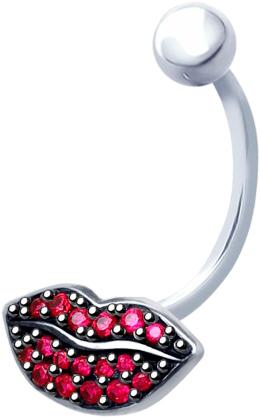 Серьги SOKOLOV 94060086_s женщин сексуальное тело мотаться пупка кольца пирсинг пупка кольца обратного