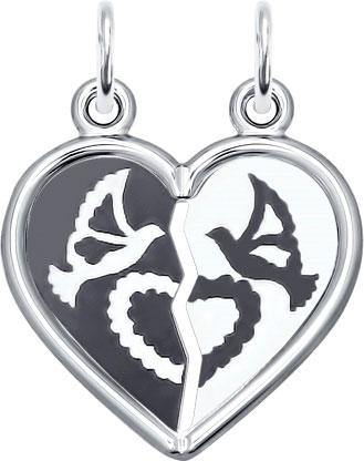 Кулоны, подвески, медальоны SOKOLOV 94100030_s кулон из двух половинок