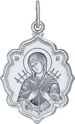 Крестики и иконки SOKOLOV 94100221_s кулон ладанка эстет золотой кулон икона божьей матери богородица семистрельная est01п011242