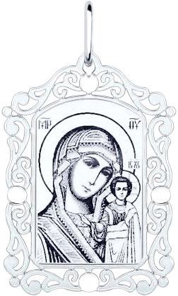 Крестики и иконки SOKOLOV 94100229_s кулон ладанка sokolov золотой кулон икона божьей матери владимирская nd103664