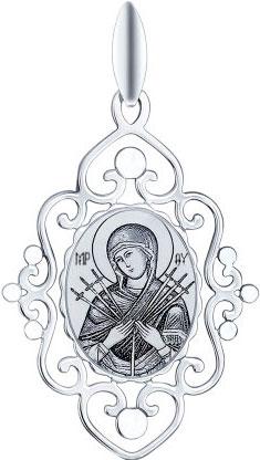 Крестики и иконки SOKOLOV 94100253_s кулон ладанка эстет золотой кулон икона божьей матери богородица семистрельная est01п011242
