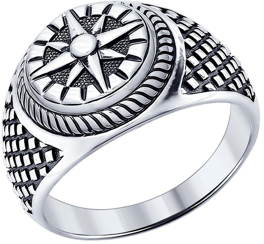 Печатка мужская серебряная Георгий Победоносец с камнями 700190: продажа,  цена в Киевской области. серебряные кольца от