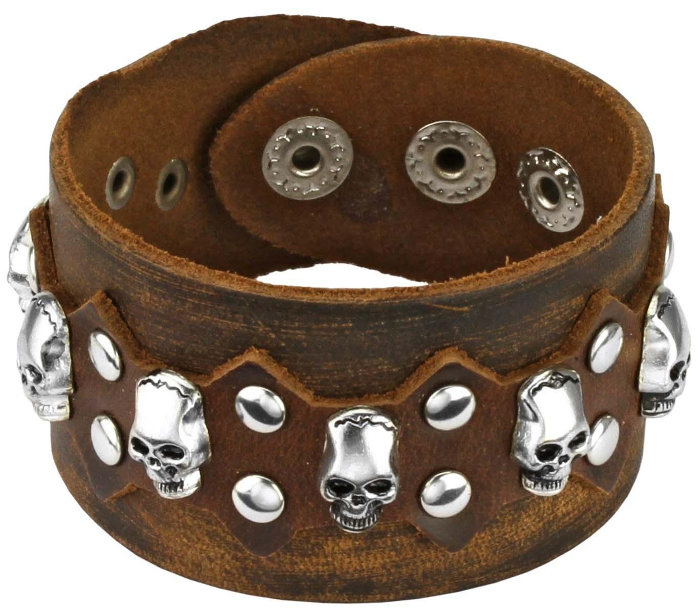 Браслеты Spikes SL0124-BRN муж кожаные браслеты кожа природа мода браслеты черный назначение особые случаи подарок