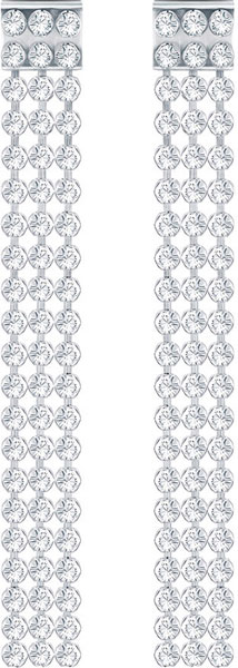 Серьги Swarovski 5293087 swarovski swarovski родия гальваническим проколол серьги серьги костюм 5181485
