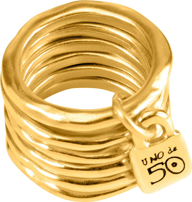 Кольца UNOde50 ANI0057ORO000 unode50 позолоченное кольцо shortcut из коллекции china unode50