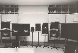 Вся линейка продукции Genelec на 77-й конвенции AES.