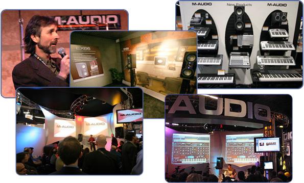 Выставки WNAMM стенды M-AUDIO. Президент компании M-Audio Тим Райан.