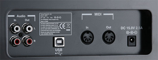 Задняя панель цифрового пианино MP-10 SR