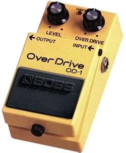 Первый гитарный процессор эффектов Boss OD-1 Overdrive.