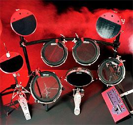 Барабанная установка с цифровыми пэдами Clavia Ddrum4