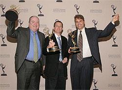Digidesign в лицах Питера Гэтчера, Эвана Брукса и Марка Джеффри получают награду 62 Primetime Emmy Engineering Awards.